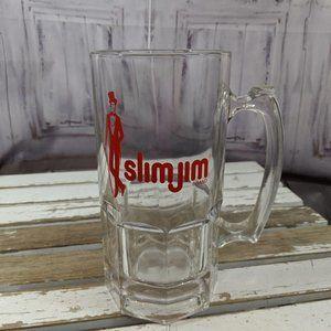 Slim Jim large mug stein cup glass vintage